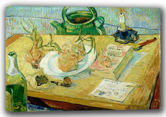 Van Gogh, Vincent: Still Life with Onions. Fine Art Canvas. Sizes: A4/A3/A2/A1 (001770)
